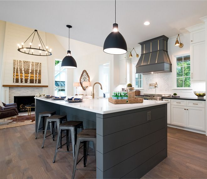 The island base color and hood color is Benjamin Moore HC ...