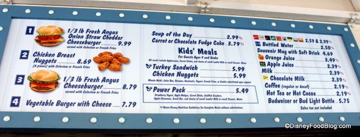 rosies all american disney menu | Review: Rosie's All American Cafe in Disney's Hollywood Studios ...