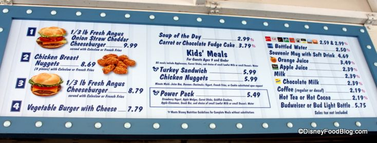 rosies all american disney menu | Review: Rosie's All American Cafe in Disney's Hollywood Studios ...