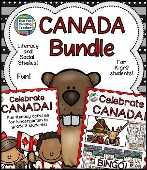 Celebrate #Canada with this Canada Literacy and Social Studies #Bundle!