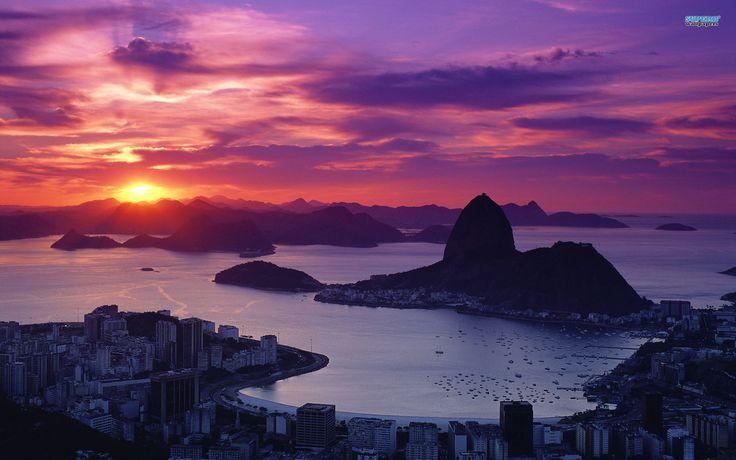 Sugar Loaf Mountain in Rio de Janeiro Wallpaper Widescreen HD for Desktop