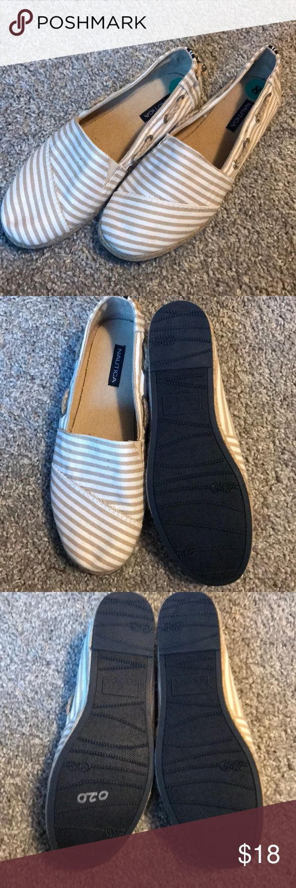 Nautical Espadrilles NWOT Brand new Nautical Espadrilles. Adorable with jeans or shorts. Never worn. Reasonable offers welcome. Non- smoking and pet free home. Discounts on bundles! Nautica Shoes Espadrilles