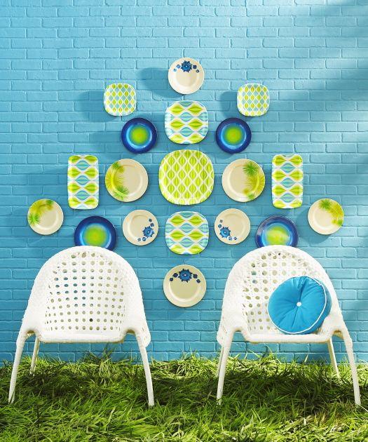 good color combos, fun idea for ourdoor space