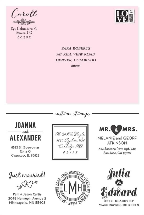 invitations-- how to address envelopes