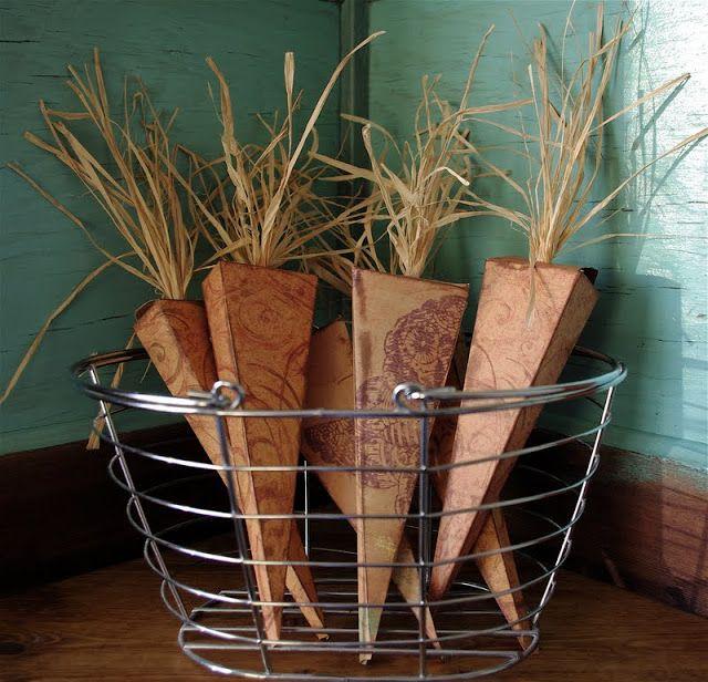 Easter Favor - Carrot Box Tutorial