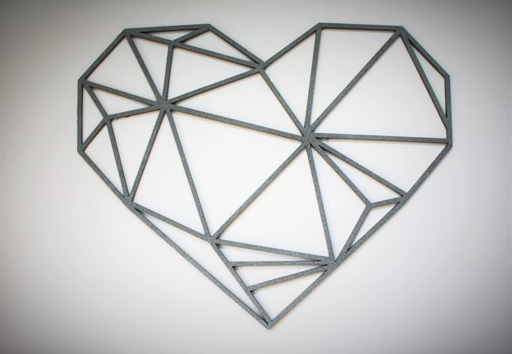 Original and Unique Large Laser cut Artwork Limited Edition Contemporary Geometric Design Heart by KREATIVDESIGNLTD on Etsy https://www.etsy.com/uk/listing/272561328/original-and-unique-large-laser-cut