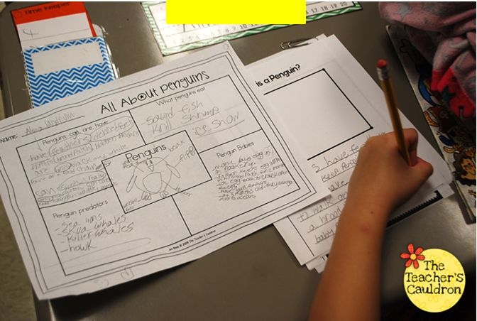 Non-Fiction Penguins - students researched, planned, and wrote their own non-fiction books. There's a video on the post showing the books