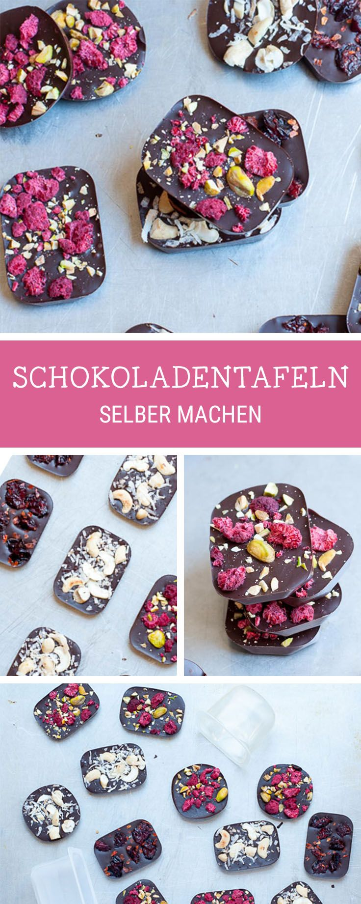 Schokolade selbermachen: Schokotafeln mit Superfood / sweet recipe for homemade chocolate bars with superfood via DaWanda.com