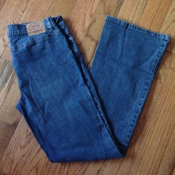 American rag jeans Medium wash American rag jeans 97% cotton 3% spandex so kind of stretchy super comfortable American Rag Jeans Flare & Wide Leg