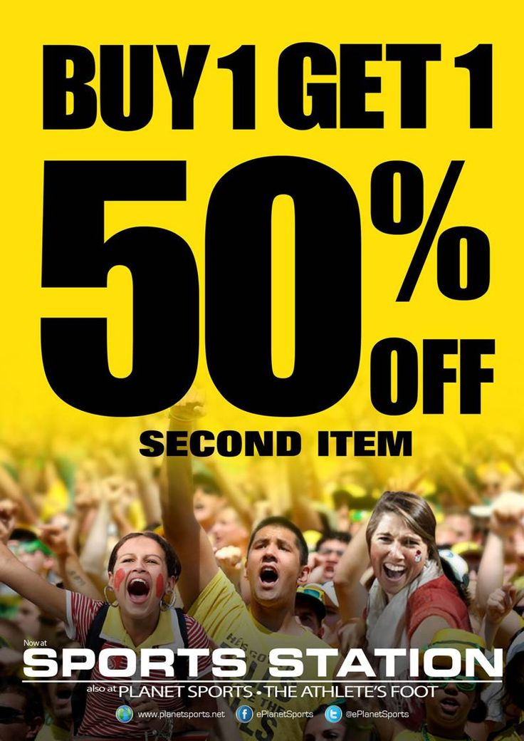 It's a buy 1 get 50% 2nd item weekend!
