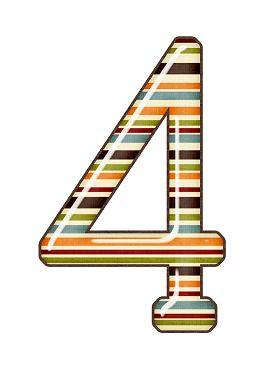 Zahl - Nummer - Number / 4 - Vier - Four
