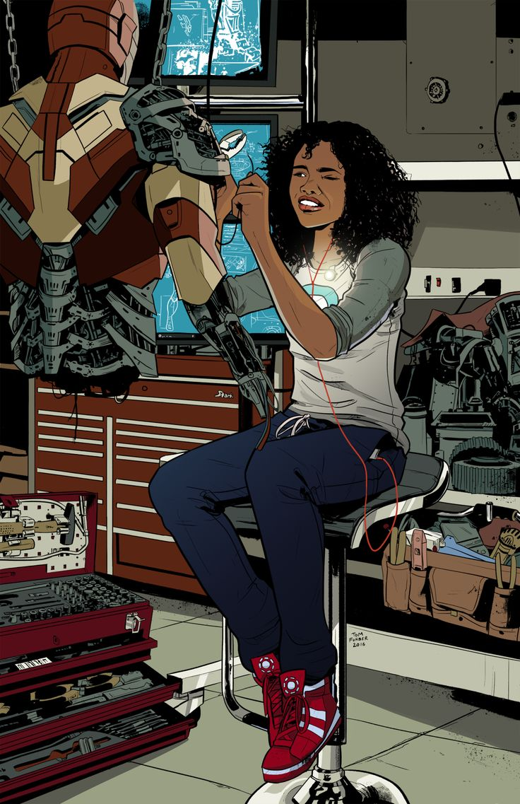 "tomfurber: "" Riri Williams (Iron Man) [Prints available] """