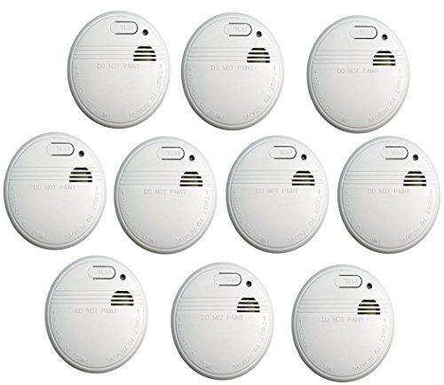 Lot de 10détecteurs de fumée Norme EN 14604-Détecteur de fumée-Détecteur de fumée-Détecteur d'incendie: Cet article Lot de 10…