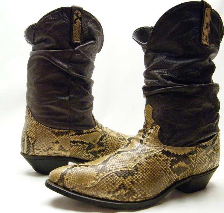 Snakeskin Boots Mens Fashion