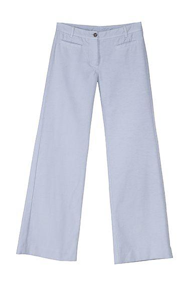 MICOL wide leg pant in cotton piquet, garment died (windy weather)
