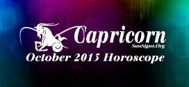 October 2015 Capricorn Monthly Horoscope