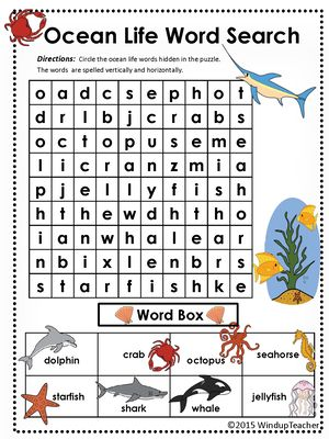 Animal Word Searches Skill Booklets page 1 | abcteach