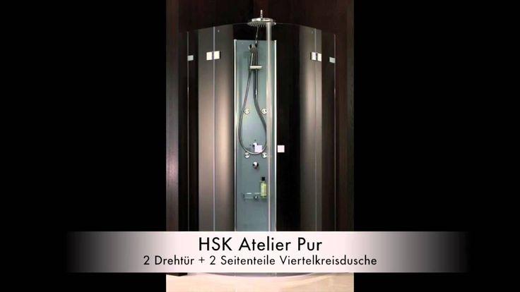 """Die Serie """"Atelier Pur"""" besticht mit Ihren rahmenlosen Modellen. In unserem Onlineshop können Sie sämtliche Modelle: http://www.profi-badshop.de/catalogsearch/result/?cat=0&q=HSK+Atelier+Pur auch in Sondermaße bestellen."""