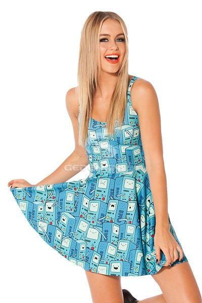 Beautiful Short Sexy Skater Dress  all over BMO print body, ultra cute and popular dress | Gedengni  isn't it?