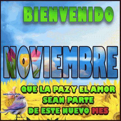 Bienvenido Noviembre en paz