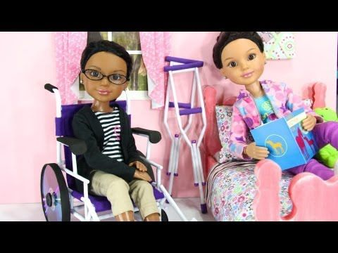 How to make a doll wheelchair (2nd one) - myfroggystuff - youtube video.
