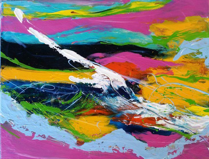 """Tropical Splash "" by Debra Dougherty. Paintings for Sale. Bluethumb - Online Art Gallery"
