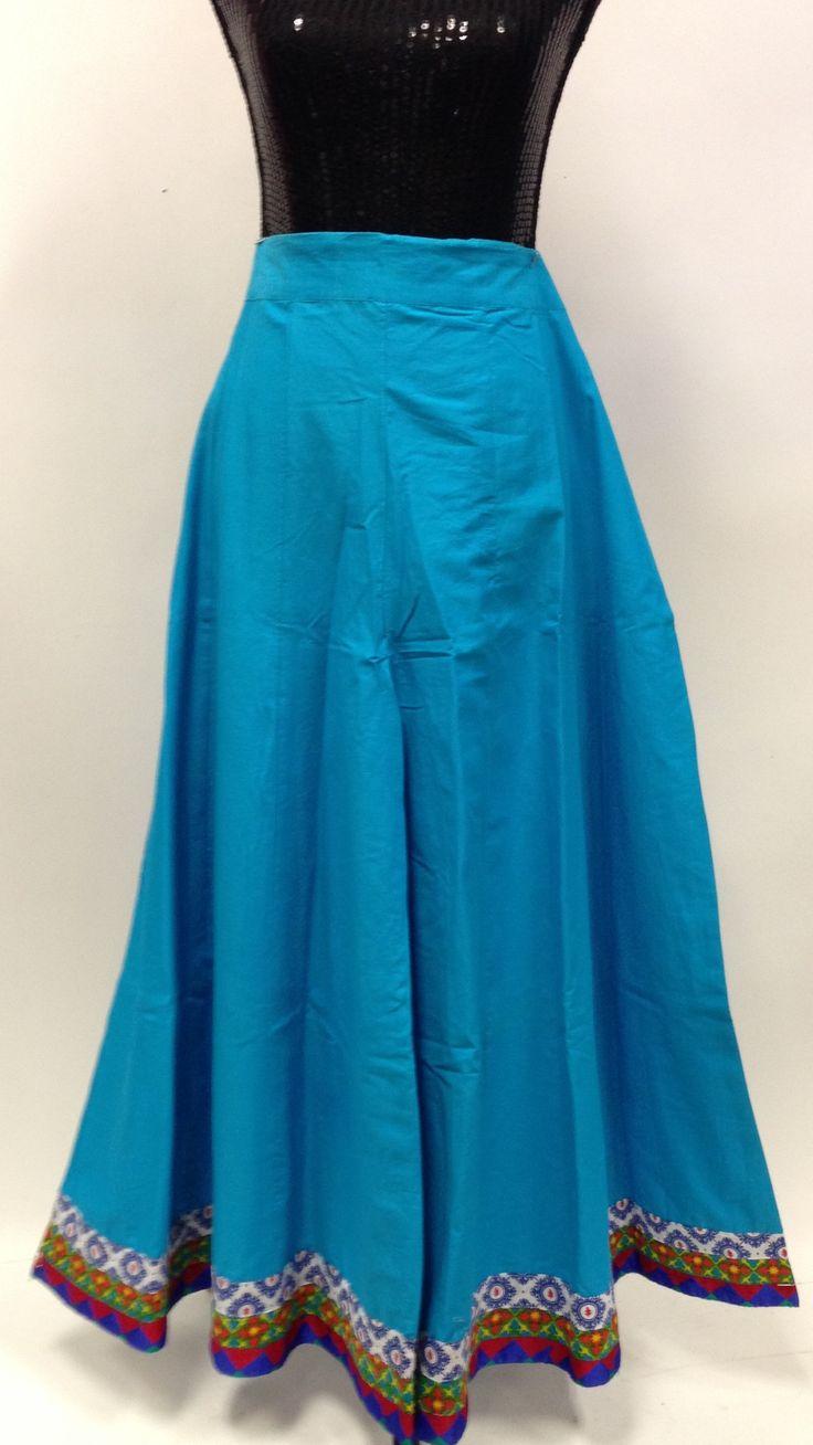 Long Divided Skirt / Pants - Sky Blue