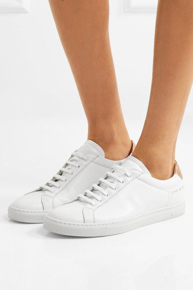 Common Projects - Retro Metallic-paneled Leather Sneakers - White - IT40