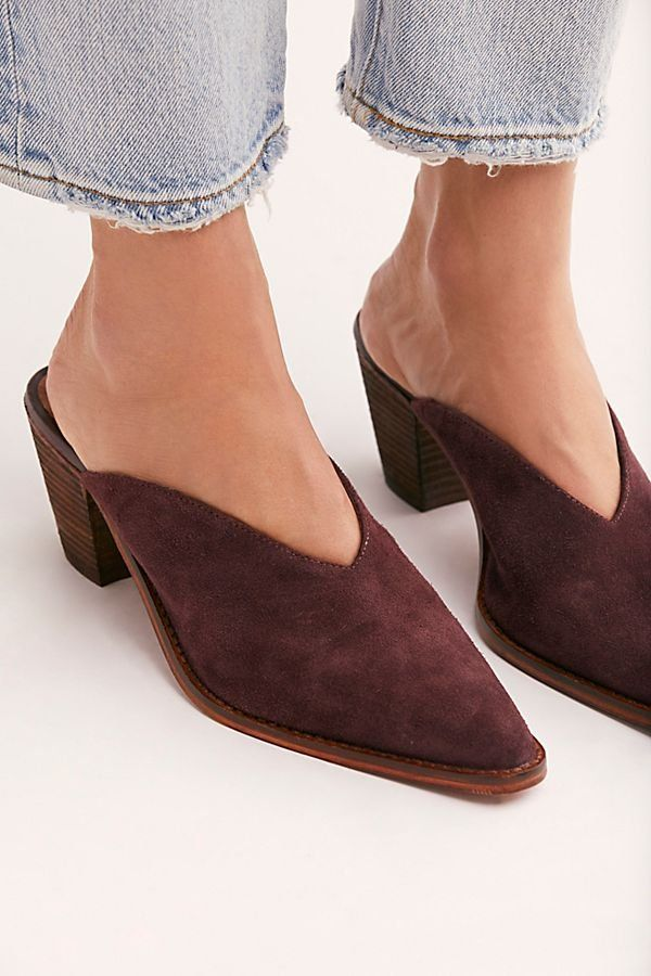 f36f5023d534d Suede Anya Mule | Shoes | Heeled mules, Suede heels, Boho shoes
