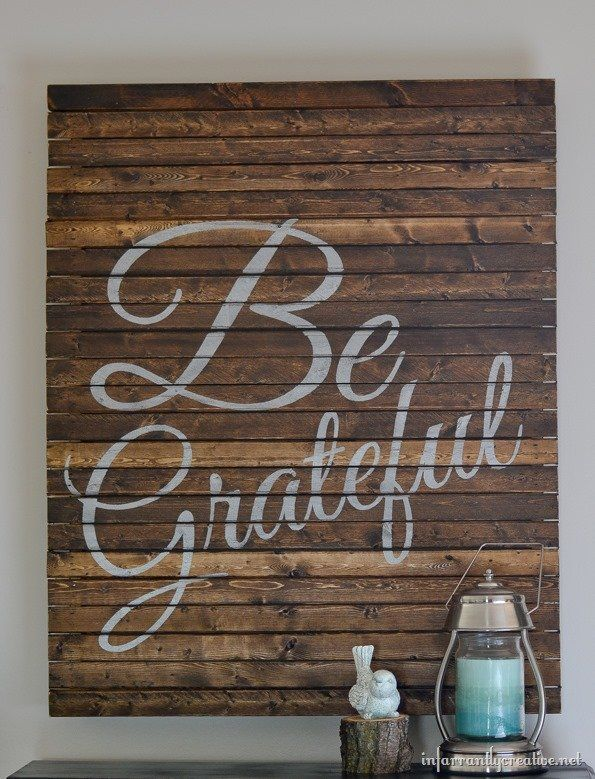 "Thanksgiving ""Be Grateful"" Pallet Art"