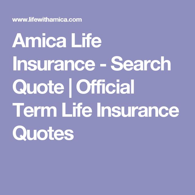 Amica Insurance Quote Cool Amica Life Insurance  Search Quote  Official Term Life Insurance