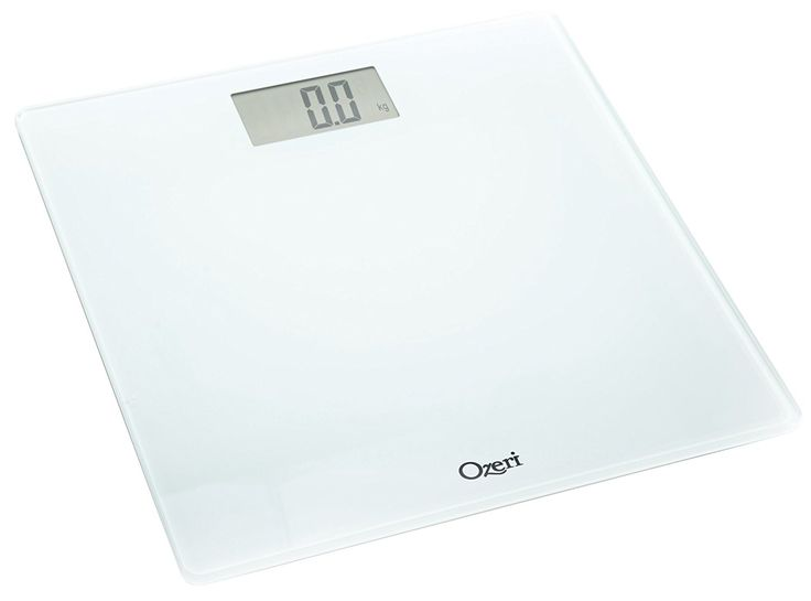 Ozeri Precision Digital Bath Scale (400 Lbs Edition), In Tempered Glass With Step-on Activation, White * For more information, visit image link.