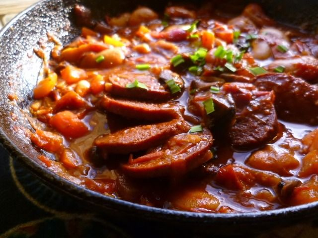 Image for Turkish sujuk and butterbean stew