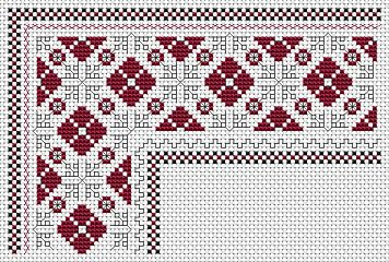 Bulgarian Motif Border free cross stitch pattern