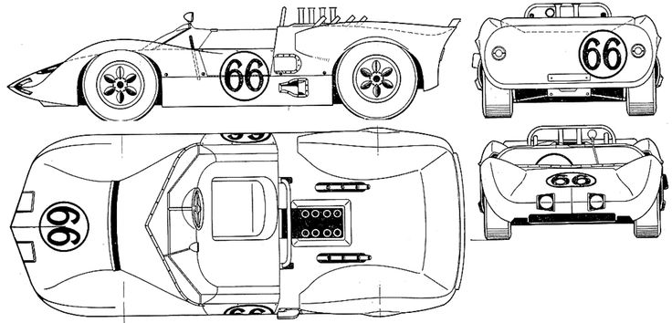 line drawing of chaparral 2  1964