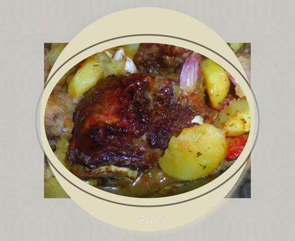 Joues+de+porc+et+pommes+de+terre+confites+au+four