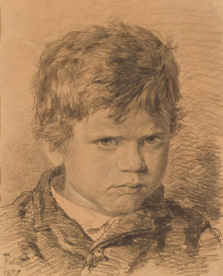 "Fałat Julian (1853-1929) ""Portret chłopca"""