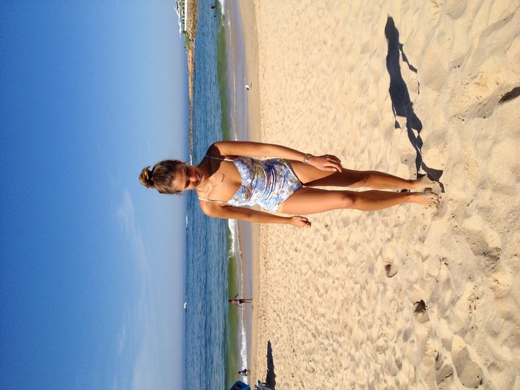 My girlfriend wearing a stylish swimsuit || this picture shows how she loves to be on the beaches of South Africa