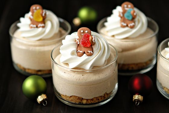 Gingerbread Oreo no-bake mini cheesecakes  {My Baking Addiction}