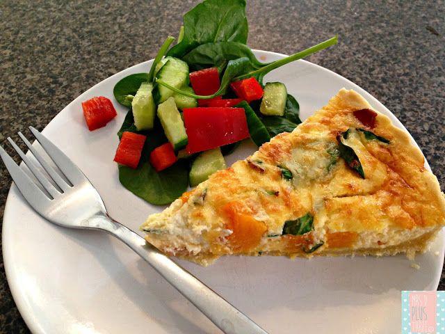 thermomix-bacon-pumpkin-and-spinach quiche