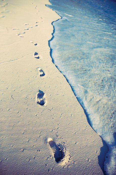 Playa beach verano summer huellas footprint mar sea miraquechulo
