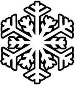Plantillas de copos de nieve.