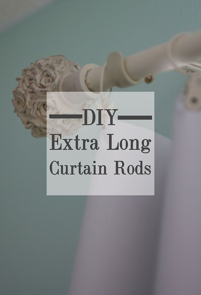 DIY Inexpensive Custom Curtain Rods | Creative House Blog