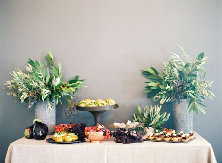 Organic grazing table, canapés, wedding food, rustic, french.  Catering: Graze Wedding Catering Venue: Osteria, Casuarina Styling: Little Gray Station