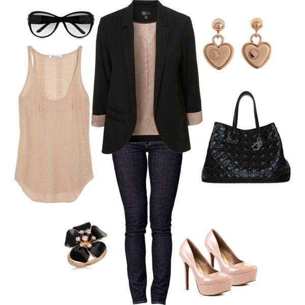 black & blush, created by bonnaroosky.polyv...