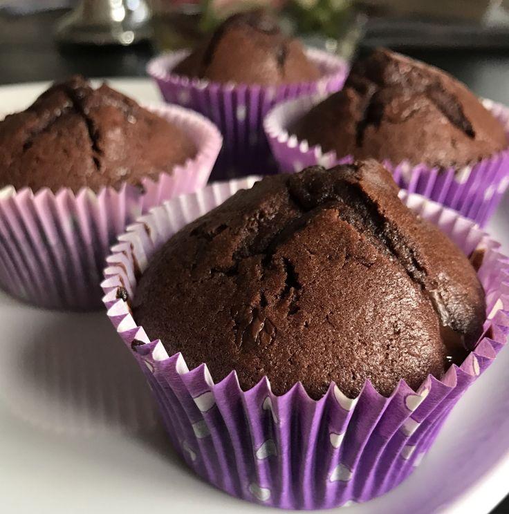 Veldig gode glutenfrie sjokolademuffins