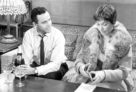 Jack Lemmon and Shirley MacLaine in the final scene of The Apartment (1960)