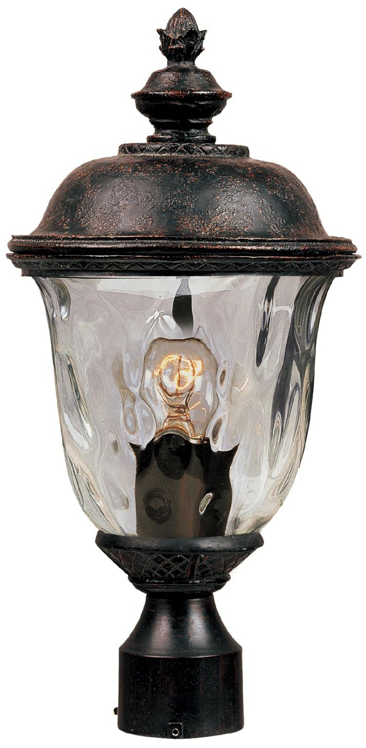 Carriage House Collection 19 1 2 High Outdoor Post Light K0811 Lamps Plus Outdoor Post Lights Post Lights Lamp Post Lights