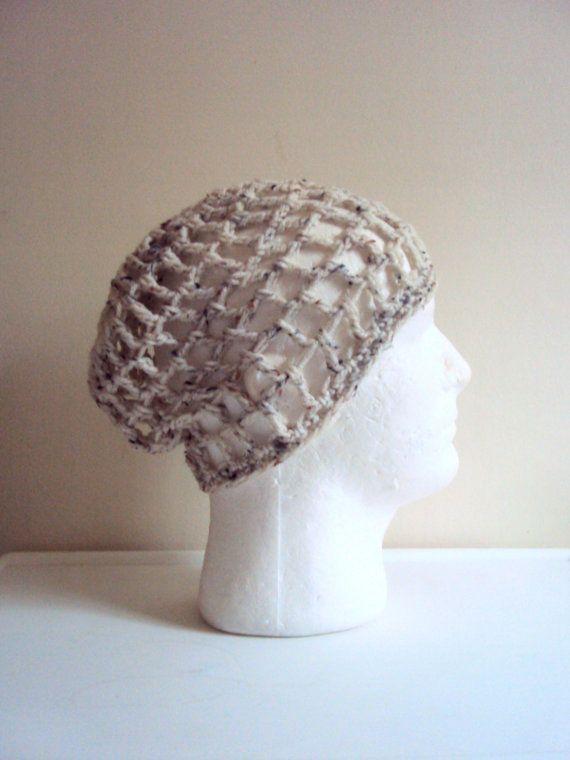 Mens Boho Beanie Crochet Hat Oatmeal Festival Hat Men Summer Accessories Beach Hat Unisex Hair Accessories by GrahamsBazaar