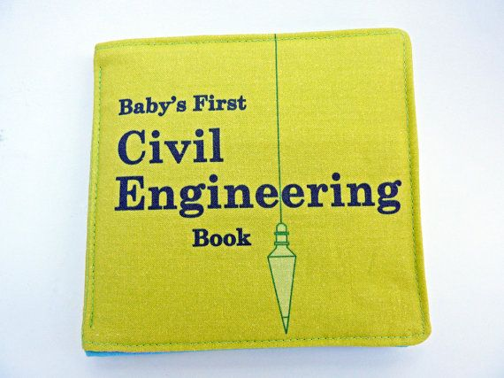 Wish I had this when my kids were babies!  Civil Engineering Baby Book by VerdantViolet on Etsy